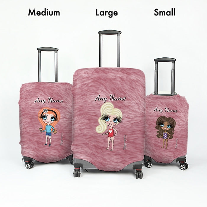 ClaireaBella Girls Fur Effect Suitcase Cover - Image 5