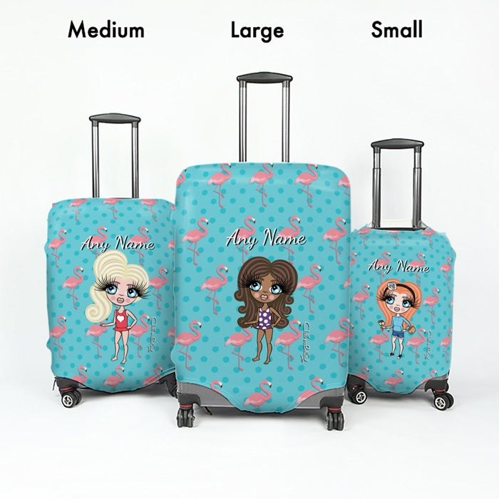 ClaireaBella Girls Flamingo Print Suitcase Cover - Image 5