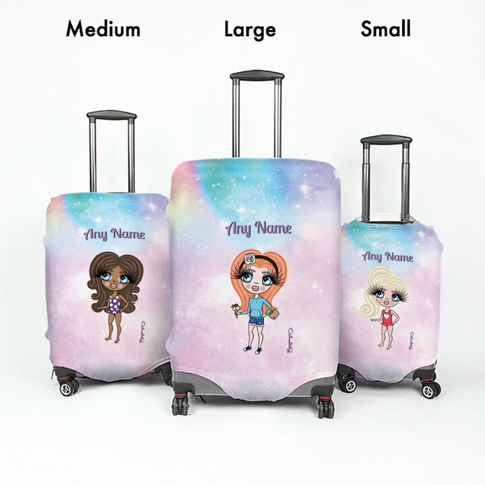 ClaireaBella Girls Unicorn Colours Suitcase Cover - Image 5