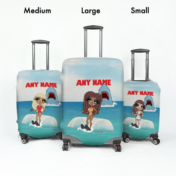 ClaireaBella Retro Shark Attack Suitcase Cover - Image 5