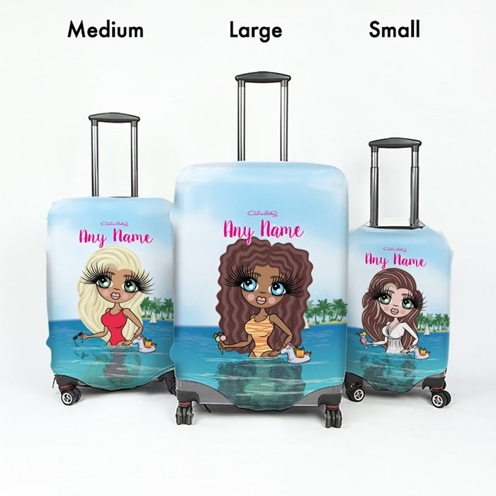 ClaireaBella Seaside Cocktails Suitcase Cover - Image 4