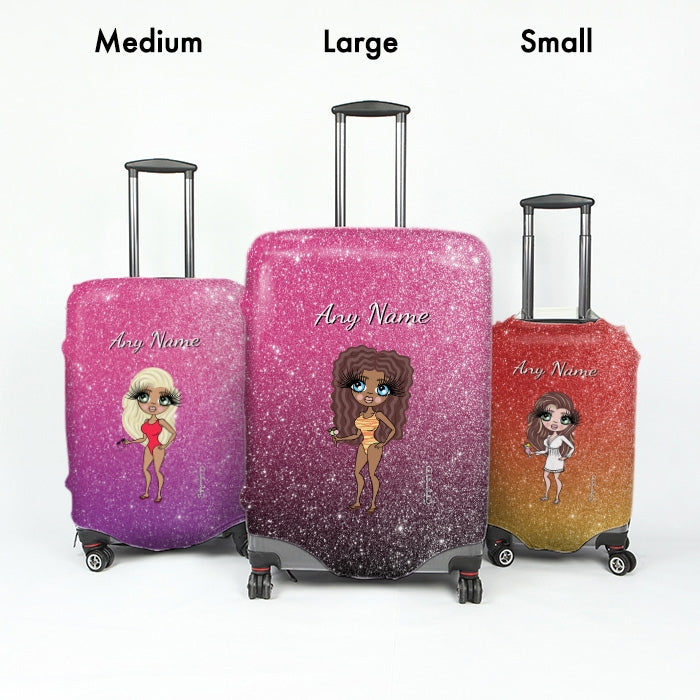 ClaireaBella Ombre Glitter Effect Suitcase Cover - Image 7