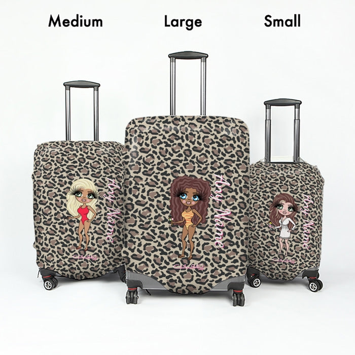 ClaireaBella Leopard Print Suitcase Cover - Image 5