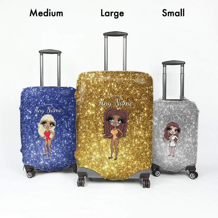 ClaireaBella Glitter Effect Suitcase Cover - Image 7