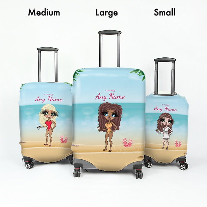ClaireaBella Beach Print Suitcase Cover - Image 5