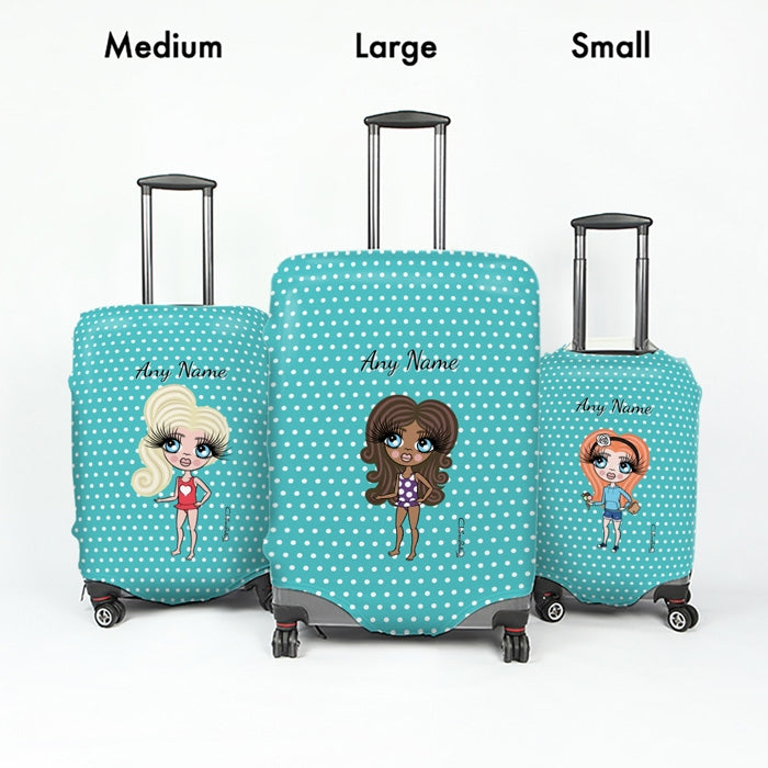 ClaireaBella Girls Polka Dot Suitcase Cover - Image 5