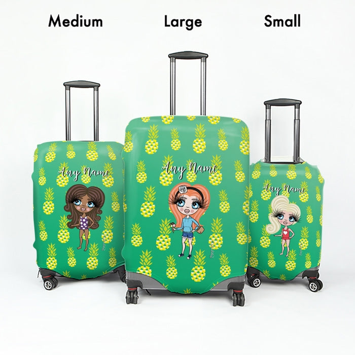 ClaireaBella Girls Pineapple Print Suitcase Cover - Image 5