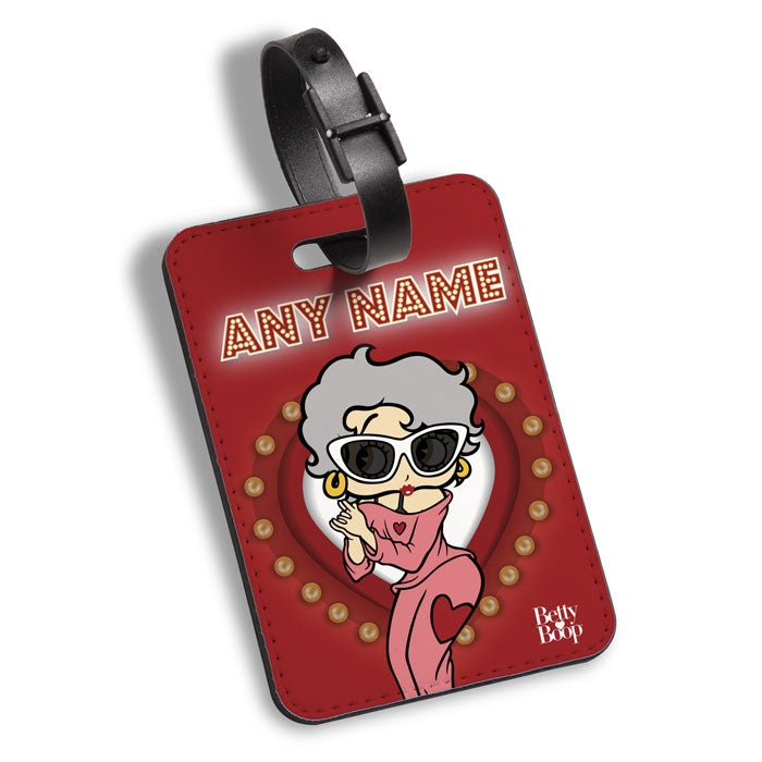 Betty Boop Name In Lights Luggage Tag - Image 1