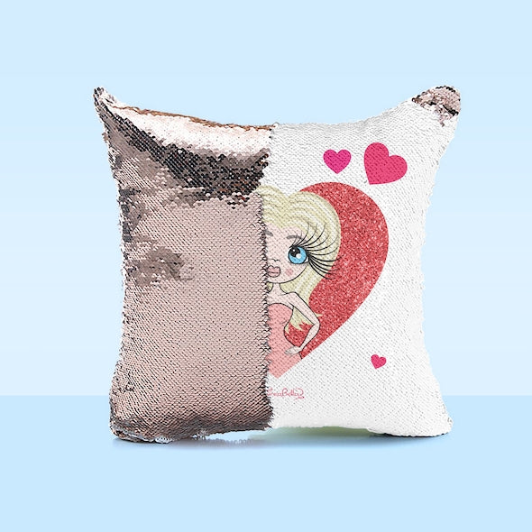 ClaireaBella Sweet Heart Sequin Cushion - Image 3