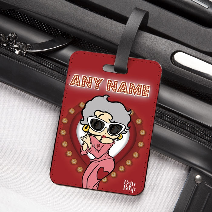 Betty Boop Name In Lights Luggage Tag - Image 2