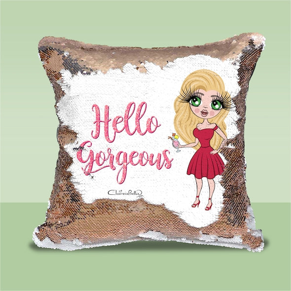 ClaireaBella Hello Gorgeous Sequin Cushion - Image 1