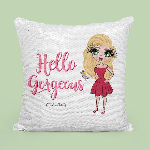 ClaireaBella Hello Gorgeous Sequin Cushion - Image 4