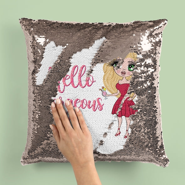 ClaireaBella Hello Gorgeous Sequin Cushion - Image 2