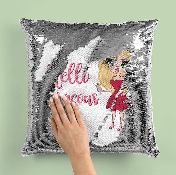ClaireaBella Hello Gorgeous Sequin Cushion - Image 5