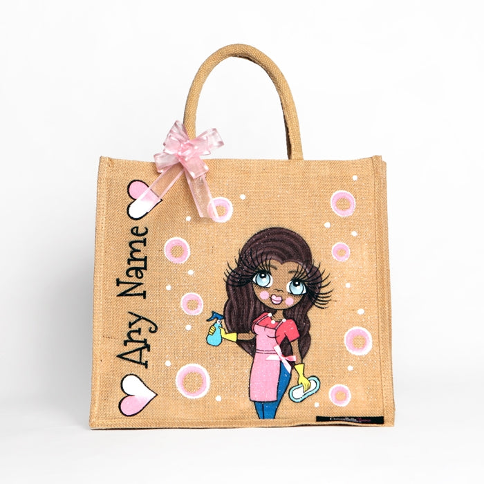 ClaireaBella Queen Of Clean Large Jute Bag - Image 2