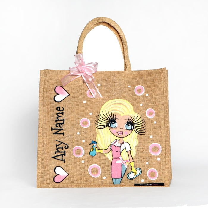 ClaireaBella Queen Of Clean Large Jute Bag - Image 1