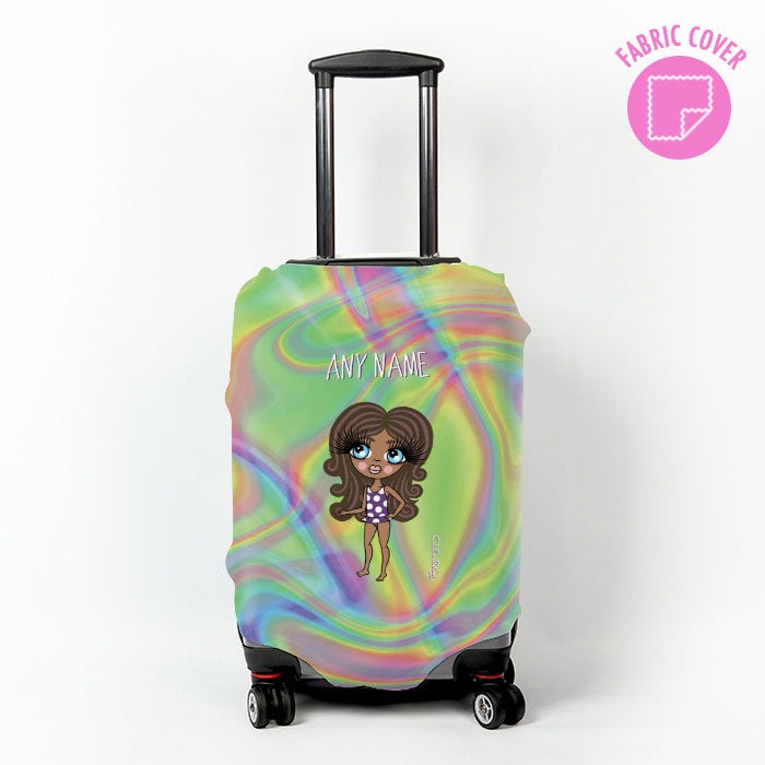 ClaireaBella Girls Hologram Suitcase Cover
