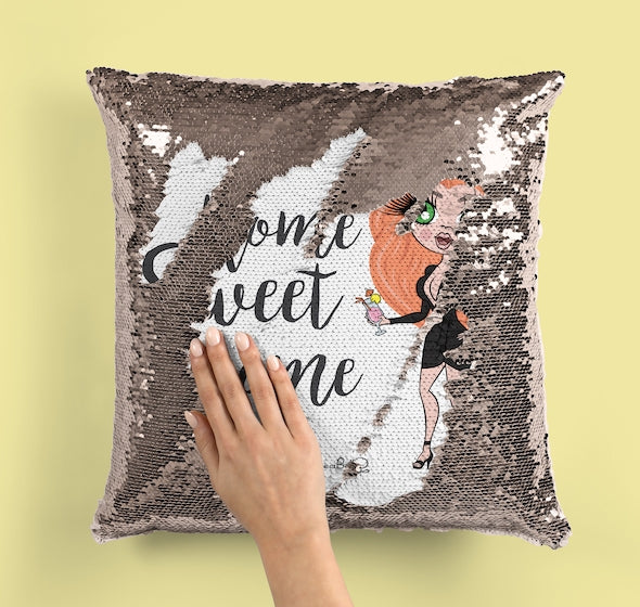 ClaireaBella Home Sweet Home Sequin Cushion - Image 2
