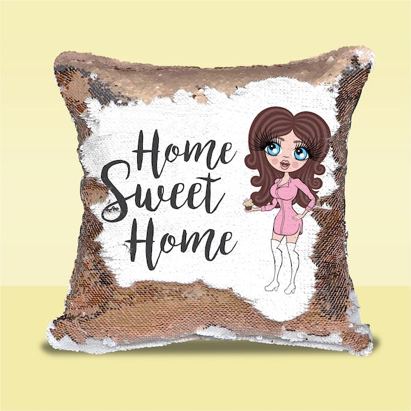 ClaireaBella Home Sweet Home Sequin Cushion - Image 1
