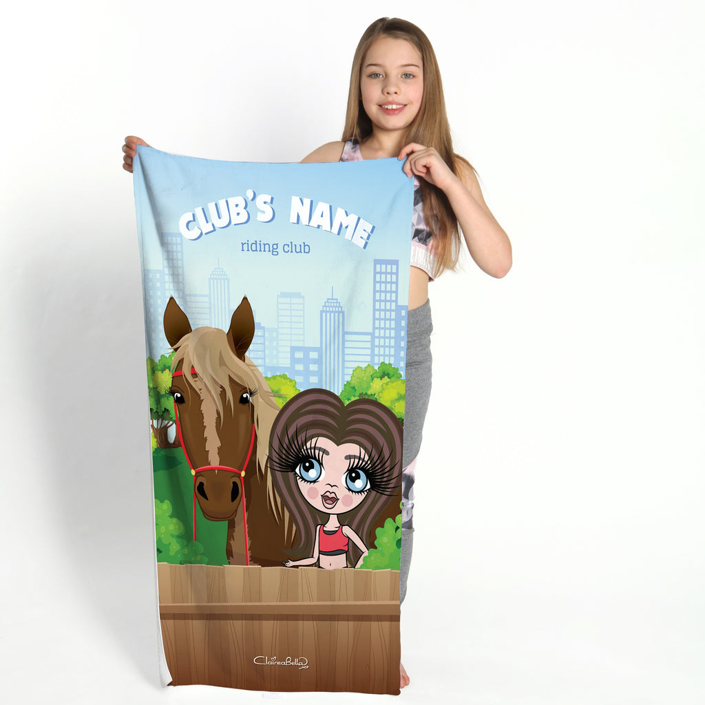 ClaireaBella Girls Horse Riding Gym Towel - Image 1