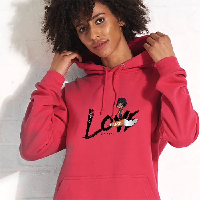 ClaireaBella Black Love Yourself Hoodie - Image 1