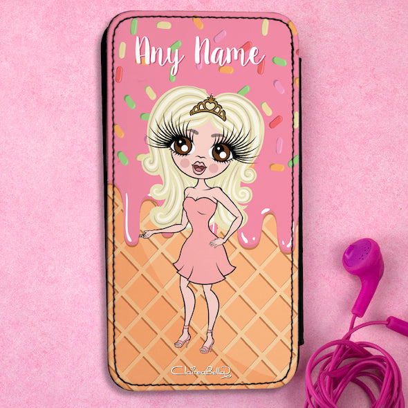 ClaireaBella Personalised Ice Lolly Flip Phone Case - Image 1