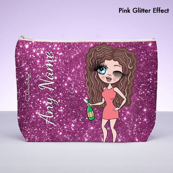 ClaireaBella Glitter Effect Wash Bag - Image 1
