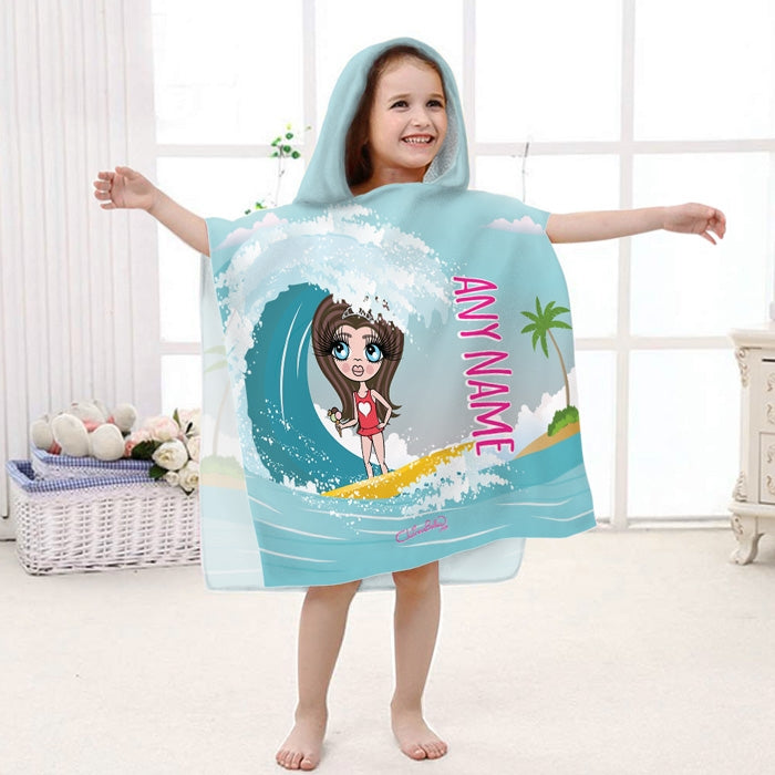 ClaireaBella Girls Surf Heaven Poncho Towel - Image 1