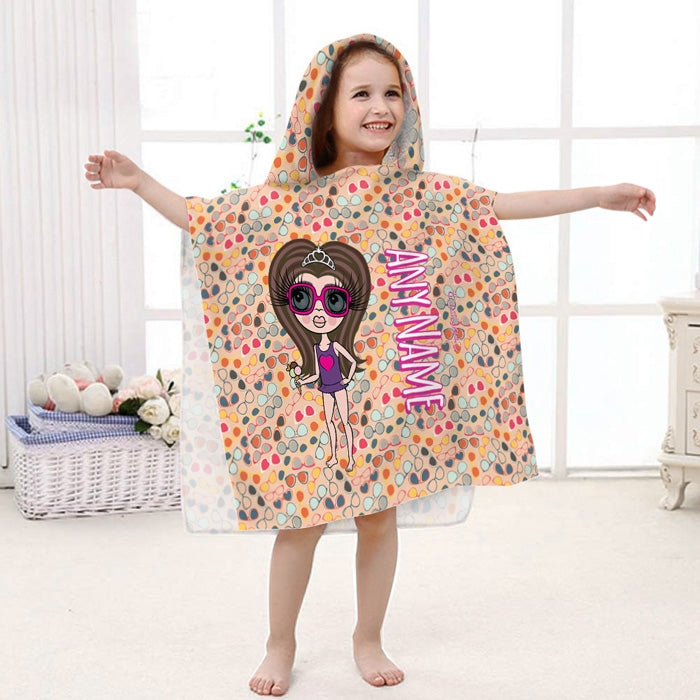 ClaireaBella Girls Sunglasses Poncho Towel - Image 2
