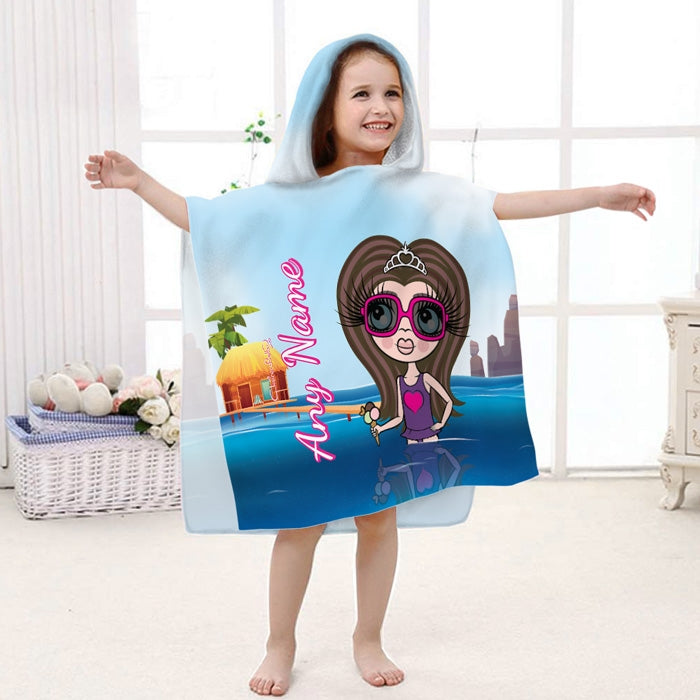 ClaireaBella Girls Paddling Poncho Towel - Image 1