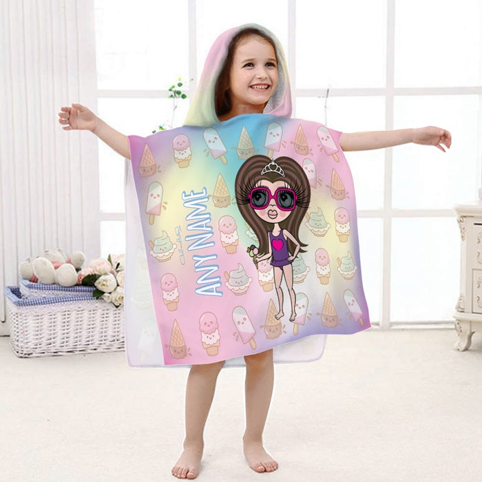 ClaireaBella Girls Ice Lolly Poncho Towel - Image 2