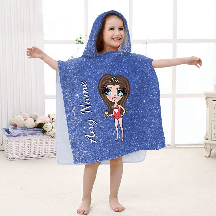 ClaireaBella Girls Glitter Effect Poncho Towel - Image 3