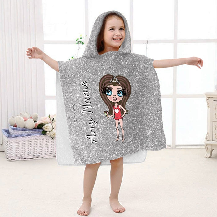 ClaireaBella Girls Glitter Effect Poncho Towel - Image 5