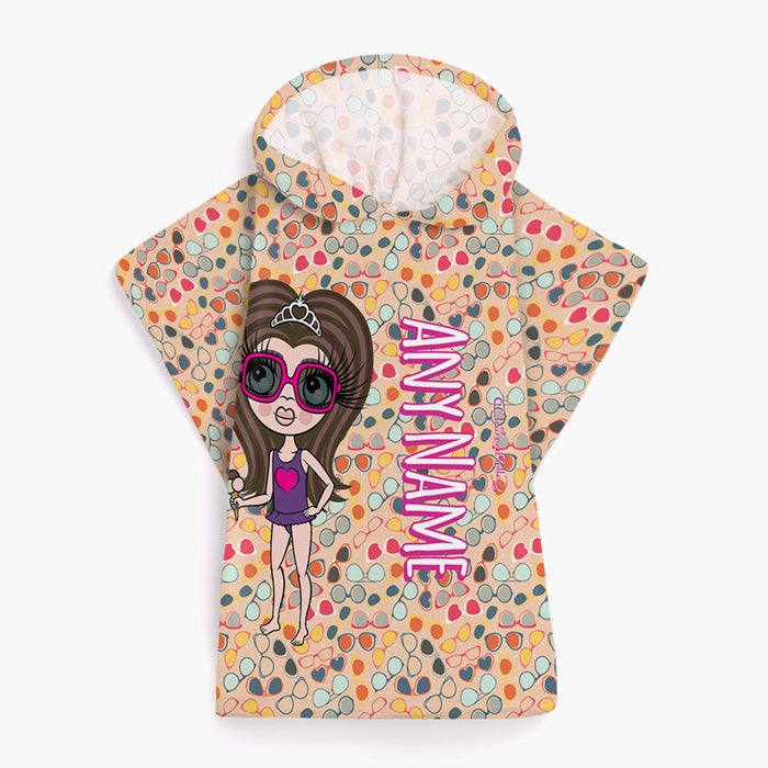 ClaireaBella Girls Sunglasses Poncho Towel - Image 1
