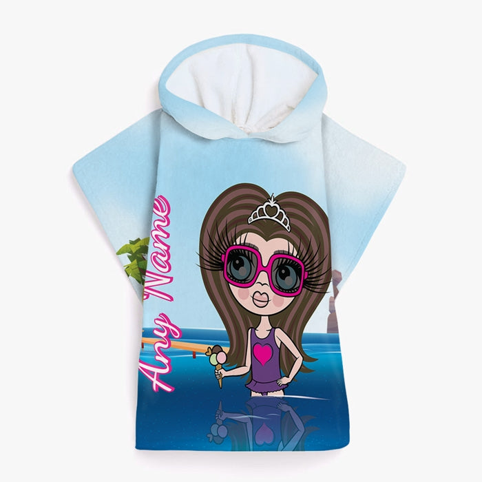 ClaireaBella Girls Paddling Poncho Towel - Image 2