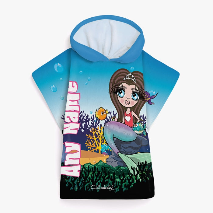 ClaireaBella Girls Mermaid Poncho Towel - Image 2
