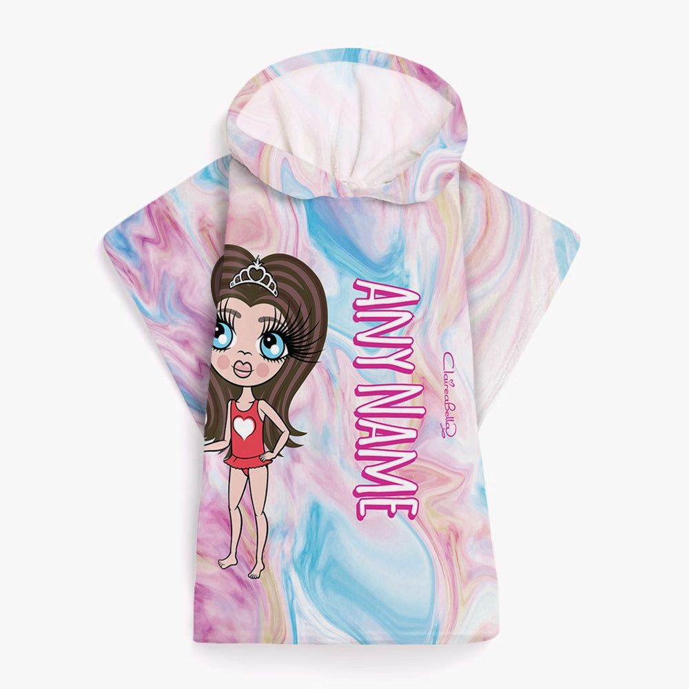 ClaireaBella Girls Marble Effect Poncho Towel - Image 2