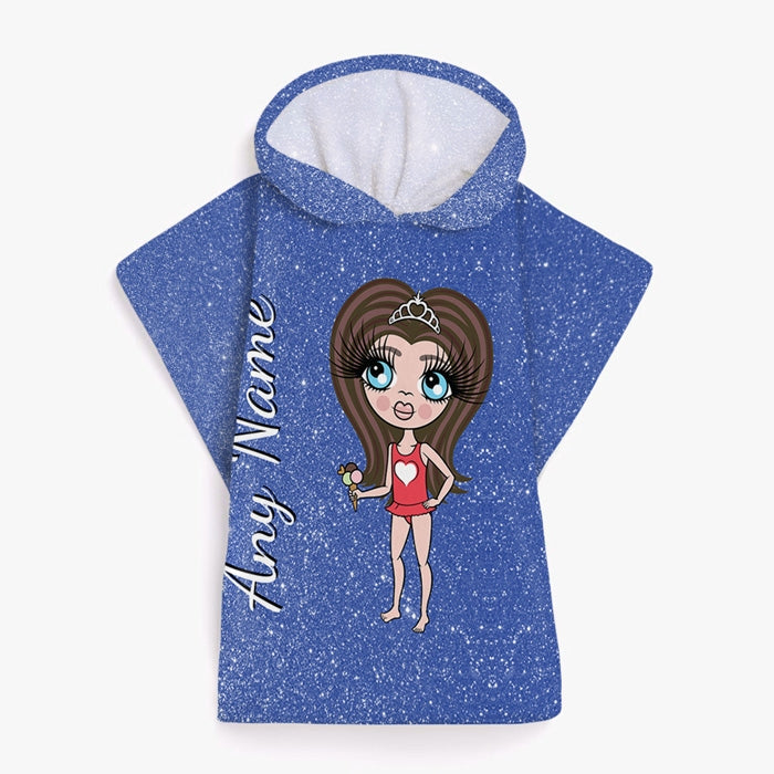 ClaireaBella Girls Glitter Effect Poncho Towel - Image 8