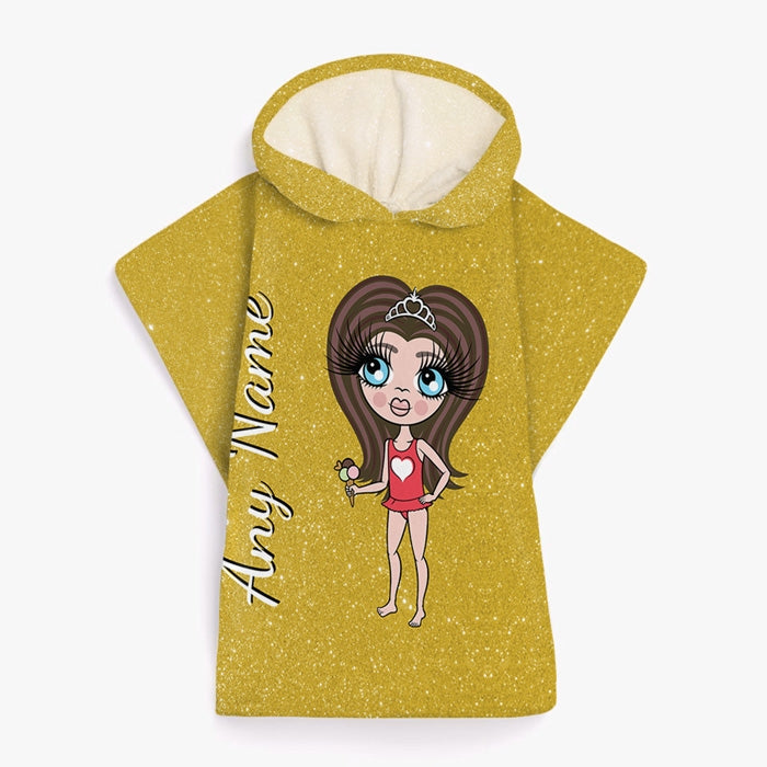 ClaireaBella Girls Glitter Effect Poncho Towel - Image 9