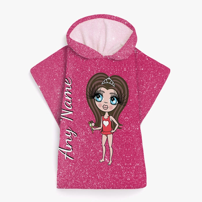 ClaireaBella Girls Glitter Effect Poncho Towel - Image 6