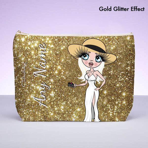 ClaireaBella Glitter Effect Wash Bag - Image 5