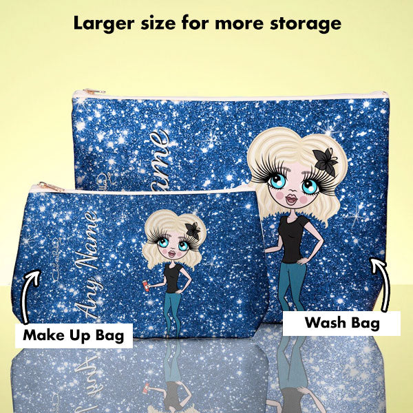 ClaireaBella Glitter Effect Wash Bag - Image 7