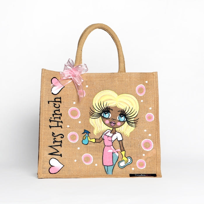 ClaireaBella Queen Of Clean Large Jute Bag - Image 8