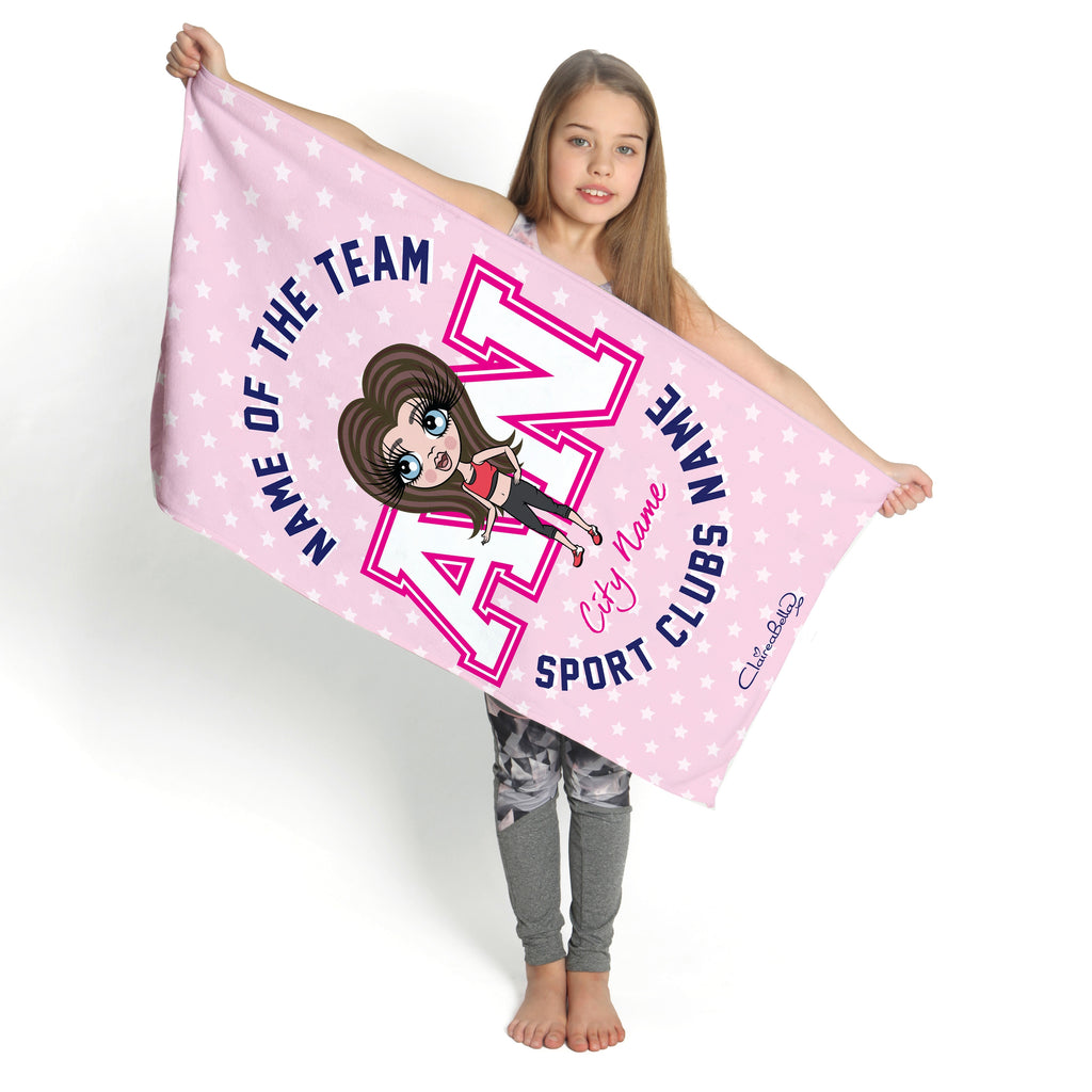 ClaireaBella Girls Stars Gym Towel - Image 2