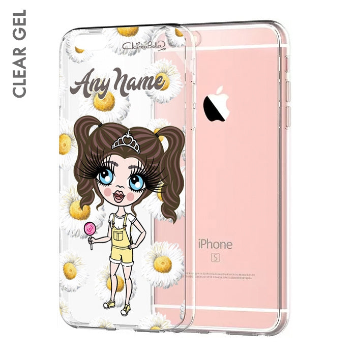 ClaireaBella Girls Daisies Clear Soft Gel Phone Case - Image 1