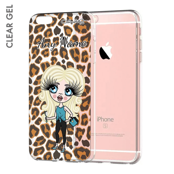 ClaireaBella Girls Leopard Print Clear Soft Gel Phone Case - Image 1