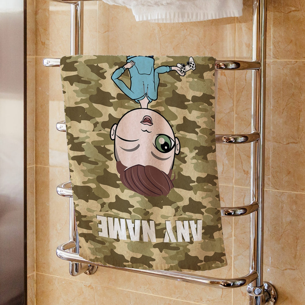 Jnr Boys Camouflage Hand Towel - Image 1