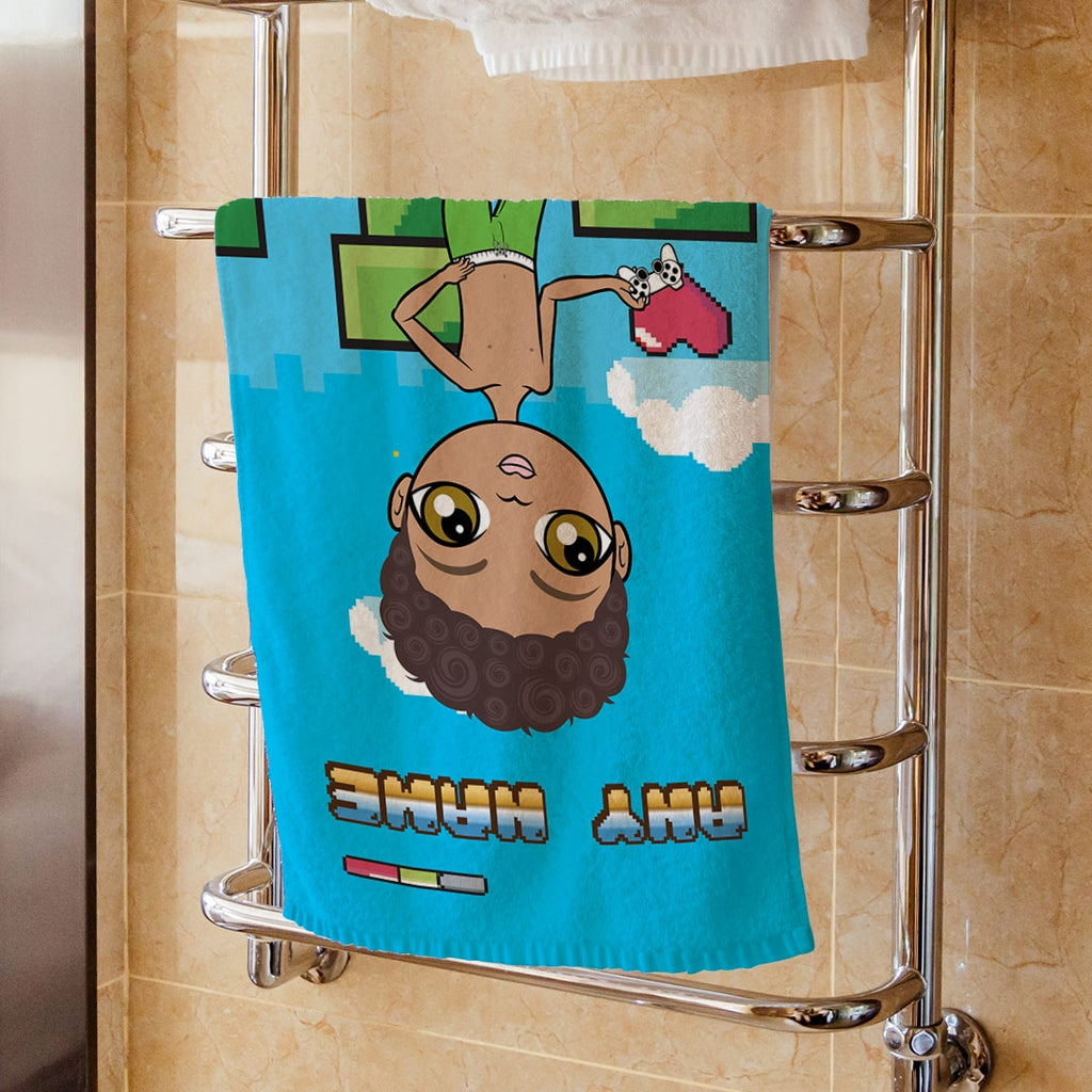 Jnr Boys Gamer Hand Towel - Image 1