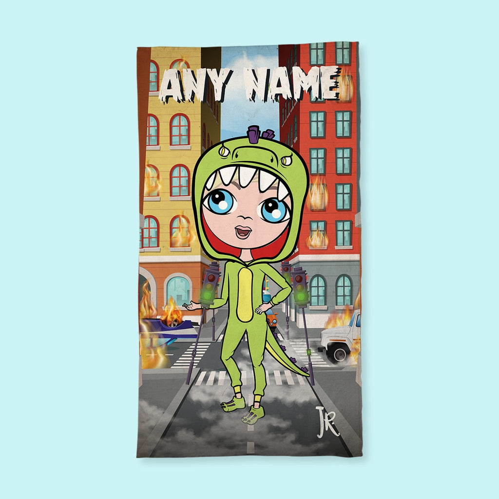 Jnr Boys Monster Mayhem Hand Towel - Image 1