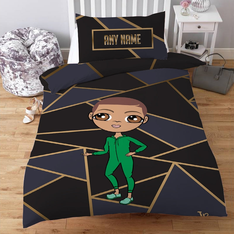 Jnr Boys Personalised Geo Print Bedding - Image 1